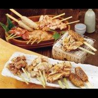 比内地鶏の串焼き&ステーキセット